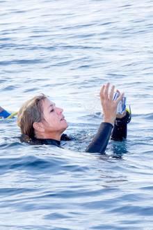 Und schon kann das karibische Korallenriff vom niederländischen Königspaar erkundet werden.