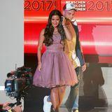 """Beim RTL-Jahresrückblick """"2017! Menschen, Bilder, Emotionen"""" zeigten sich Sarah und Pietro das erste Mal nach der Trennung gemeinsam im TV. Für diesen ganz besonders aufregenden Tag wählte Sarah natürlich auch ein besonderes Outfit."""