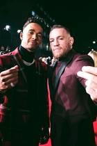 """Sie sind Giganten ihrer jeweiligen Sportart und Freunde: Lewis Hamilton, aktueller """"Formel 1""""-Weltmeister und Conor McGregor, amtierender UFC Lightweight Champion."""