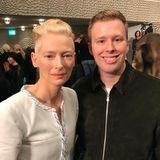 GALA-Redakteur Steffen war ganz begeistert von der sympathischen Tilda Swinton.