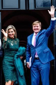 6. Dezember 2017  Königin Máxima und König Willem-Alexander präsentieren sich bei der Verleihung des Prinz-Claus-Preis im Königlichen Schloss in Amsterdam.