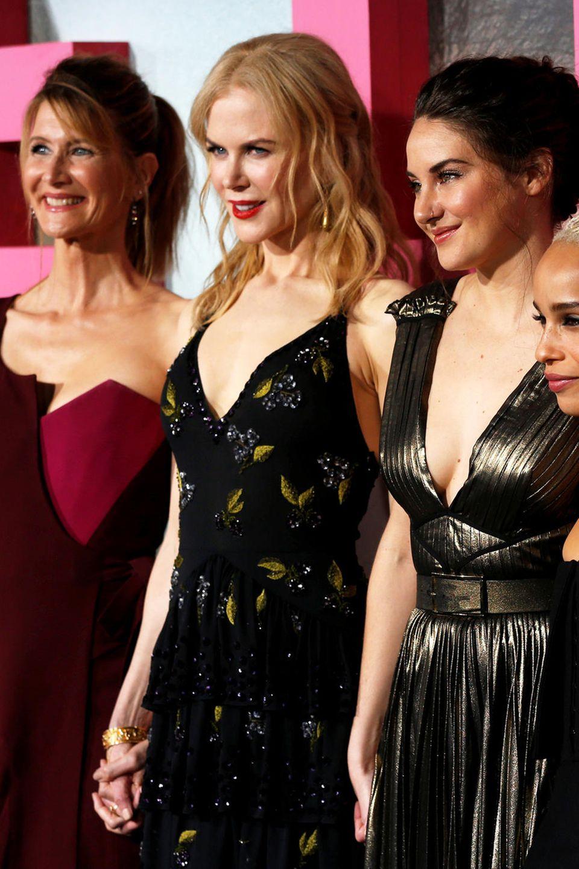 """Die Stars der Serie """"Big Little Lies"""":Laura Dern, Nicole Kidman, Shailene Woodley, Zoe Kravitz und Reese Witherspoon"""
