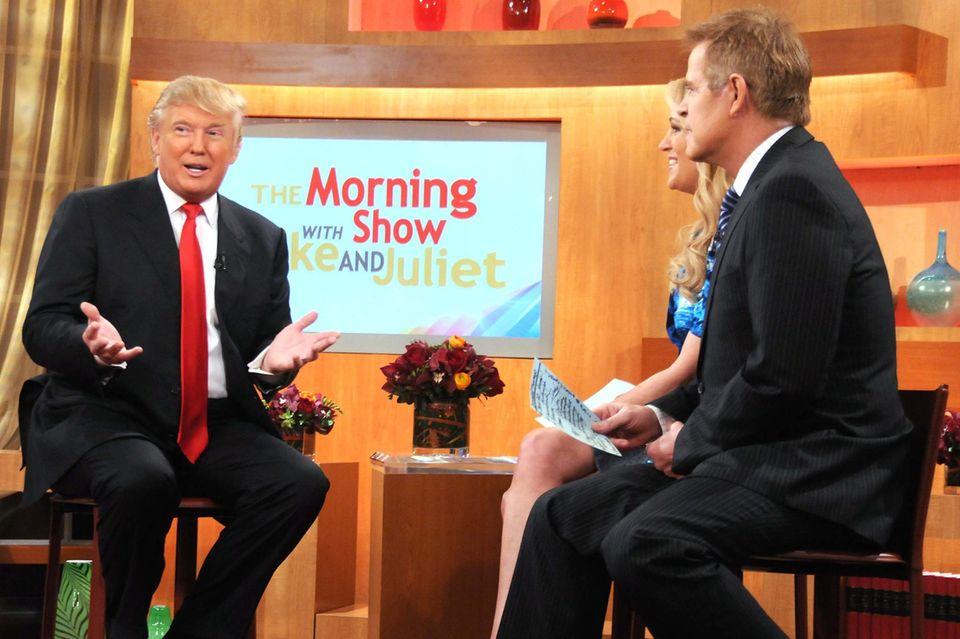 Donald Trump zu Gast in der Morning-Show, die Juliet Huddy moderierte.