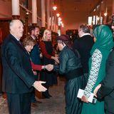 12. Dezember 2017  König Harald, Königin Sonja, Prinzessin Mette-Marit und Prinz Haakon begrüßen die Gäste im Kunststall.