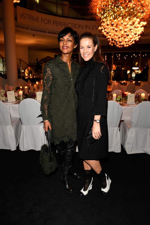 12. Dezember 2017  AuchDennenesch Zoudé undAlexandra Neldel amüsierten sich imBMW Haus am Kurfürstendamm bestens.