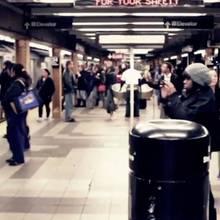 U-Bahn Bahnsteig