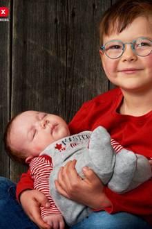 Mattheo und sein Bruder Benjamin
