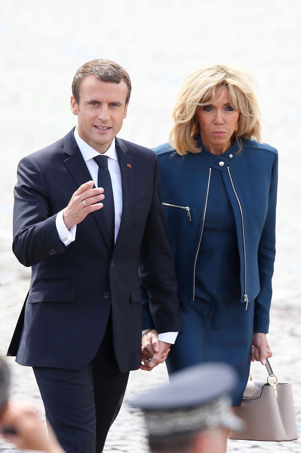 Emmanuel + Brigitte Macron