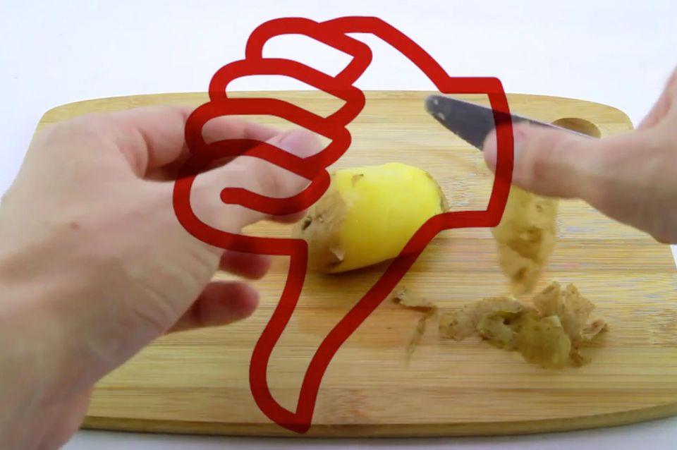 Kartoffeln richtig schälen