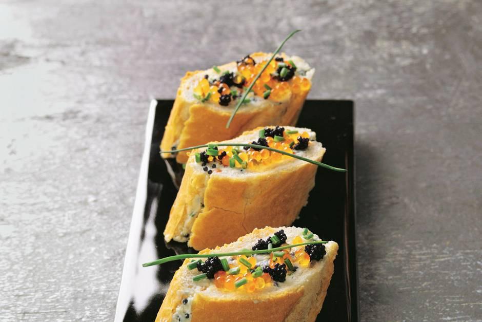 Gefülltes Kaviar-Baguette