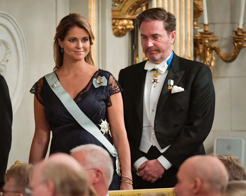 20. Dezember 2017   Prinzessin Madeleine und Ehemann Chris O´Neill bei den Feierlichkeiten der Schwedischen Akademie Börshuset in Stockholm.