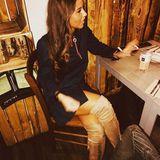 Sarah Lombardi hat es sich in einemCafé bei einemLatte Macchiato gemütlich gemacht.