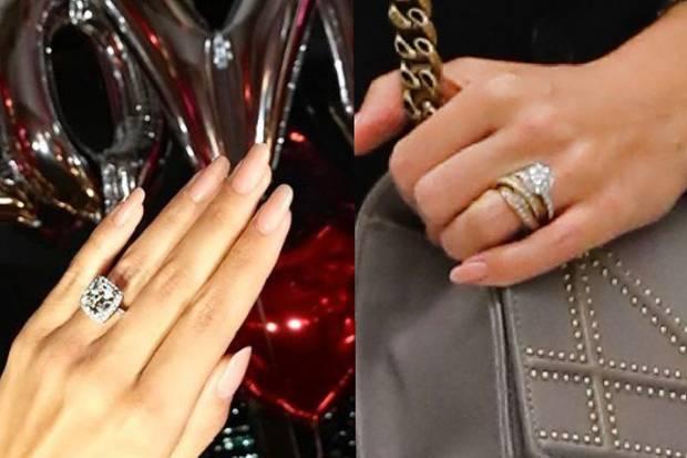 Links sehen Sie Sylvies Verlobungsring, rechts der Ring, den sie noch immer am Finger trägt. Bei genauerem Hinschauen lassen sich durchaus Unterschiede erkennen.