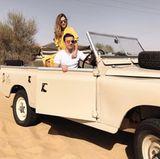 28. Dezember 2017  Fußballstar Mario Götze und seine schöne Verlobte Ann-Kathrin Brömmel genießen eine Fahrt durch die Wüste um Dubai.