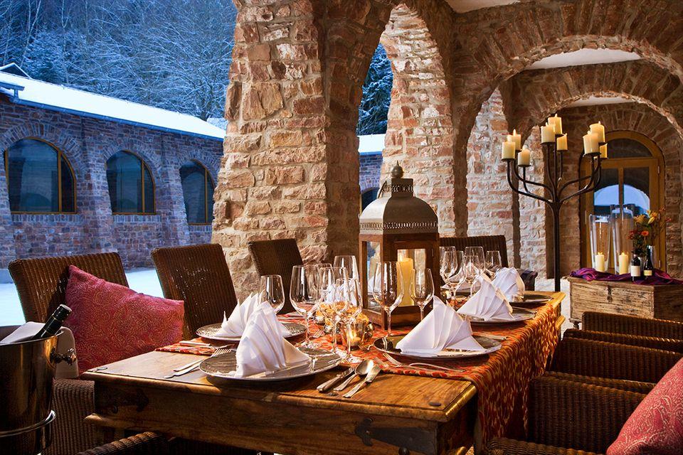 Stilvolles Ambiente im Restaurant