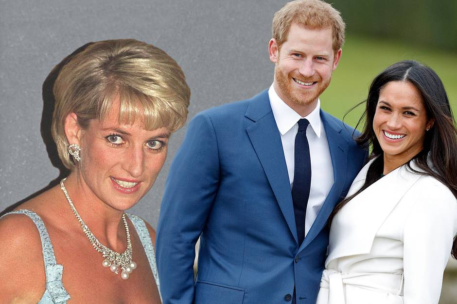 Lady Diana (†); Prinz Harry + Meghan Markle