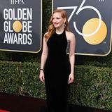 Black Velvet: Jessica Chastain in Armani Privé