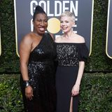 Glamouröses Style-Team: Frauenrechtsaktivistin Tarana Burke und Michelle Williams (in Louis Vuitton)