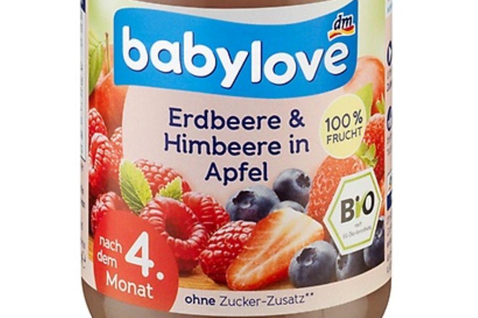babylove Erdbeere & Himbeere in Apfel