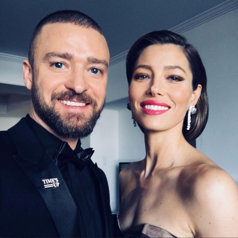 """7. Januar 2018  """"Meine Frau ist verdammt heiß"""" postet Justin Timberlake von den diesjährigen Golden Globes. Ja, das können wir verstehen, Justin! Jessica sah wirklich klasse aus."""