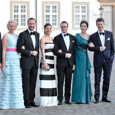 Prinz Haakon, Prinzessin Victoria + Prinz Frederik