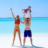 25. Dezember 2017  Happy Family im Paradies. Die Keaton´s genießen ihren Urlaub auf den Malediven.