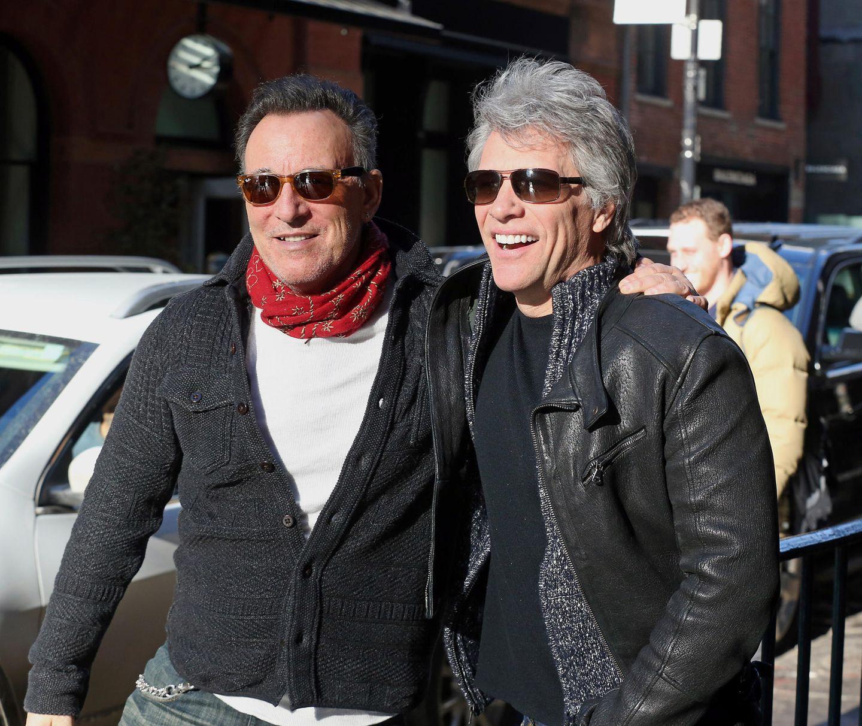 10. Januar 2018  Ziemlich beste Freunde: Rock Legenden Bruce Springsteen und Jon Bon Jovi unterwegs in New York.