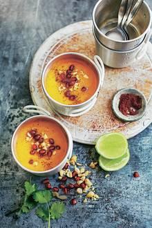 Süßkartoffel-Sumach-Suppe