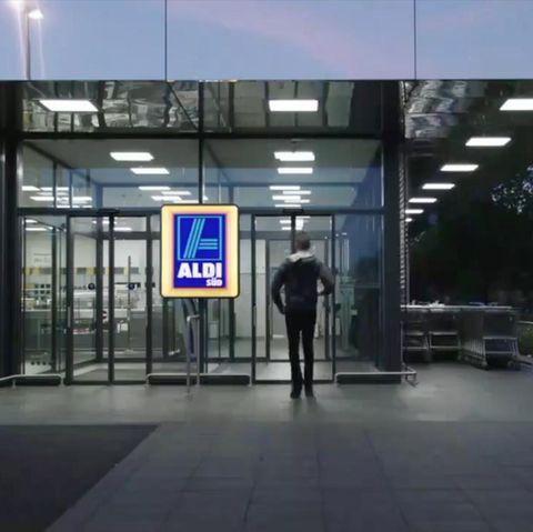 Geldpanne bei Aldi.