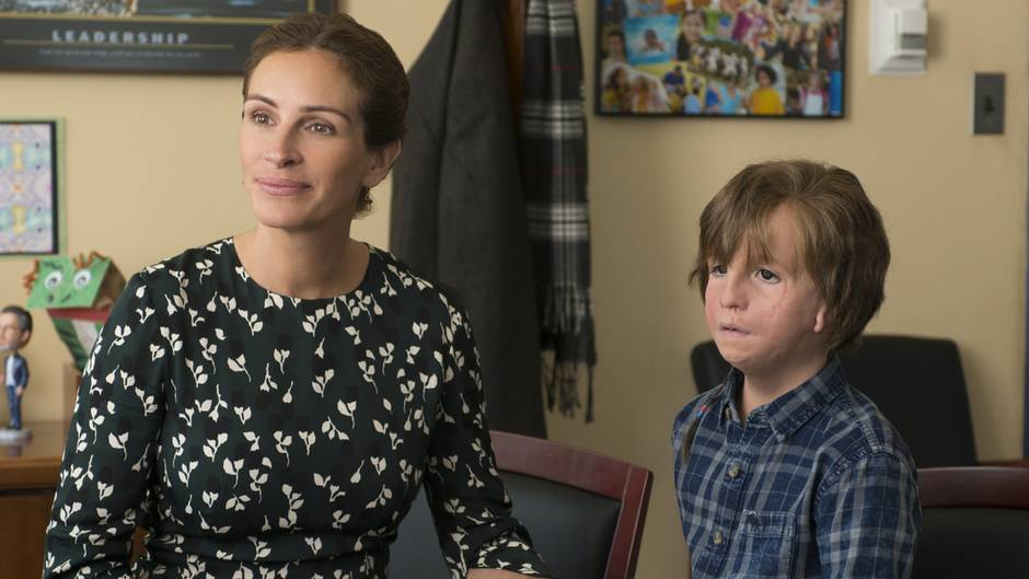 "Julia Roberts, Jacob Tremblay in ""Wunder"""