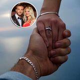 """In der RTL 2 Kuppelshow """"Love Island"""" haben sich Stephanie und Julian wieder getroffen. Schon vor ein paar Jahren waren sie kurzweilig ein Paar, nun sind sie sich ganz sicher, dass ihr Liebe für immer halten wird. Um ihre Hand hielt Julian mit einem ganz klassischen Verlobungsring an."""