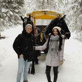 Wie romantisch! Schauspieler Jörn Schlönvoigt überrascht seine Hanna mit einer Pferdeschlittenfahrt durch Tirol.