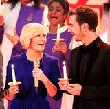 28. November 2015  Gemeinsam singen Helene Fischer und Florian Silbereisen auf der Bühne.