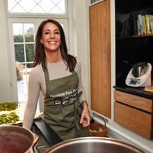 Prinzessin Marie in ihrer eigenen Küche in ihrer Villa in Klampenborg.