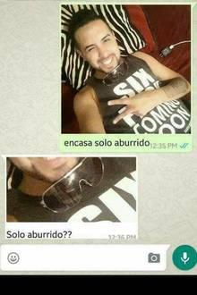 Dieses Selfie verschickte der Spanier an seine Freundin.