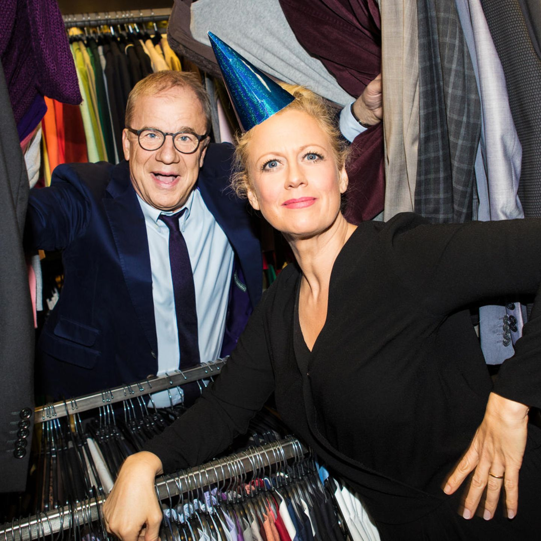 Talk-Traumpaar in der Garderobe: Barbara Schöneberger und Hubertus Meyer-Burckhardt