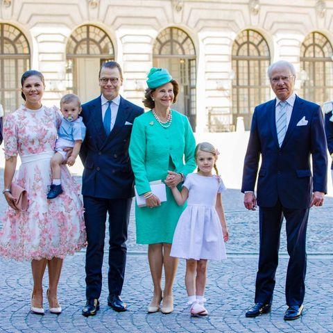 Prinzessin Estelle mit ihrer Familie