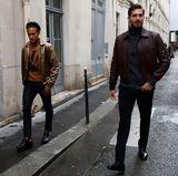 Zwei Fußball-Stars auf dem Weg zur Fashion-Show: Neymar Jr. und Kevin Trapp, beide bei Paris Saint-Germain unter Vertrag, besuchen wie viele andere Stars die Show von Louis Vuitton.