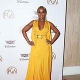 Besonders sommerlich leuchtet Mary J. Blige im sonnengelben Elie-Saab-Kleid.