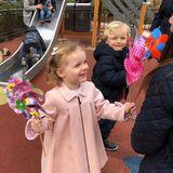 """20. Januar 2018  Ein spaßiger Morgen im """"Monégasque Market"""": Für Fürstin Charlènes Zwillinge gibt es auf dem Spielplatz viel zu entdecken ..."""