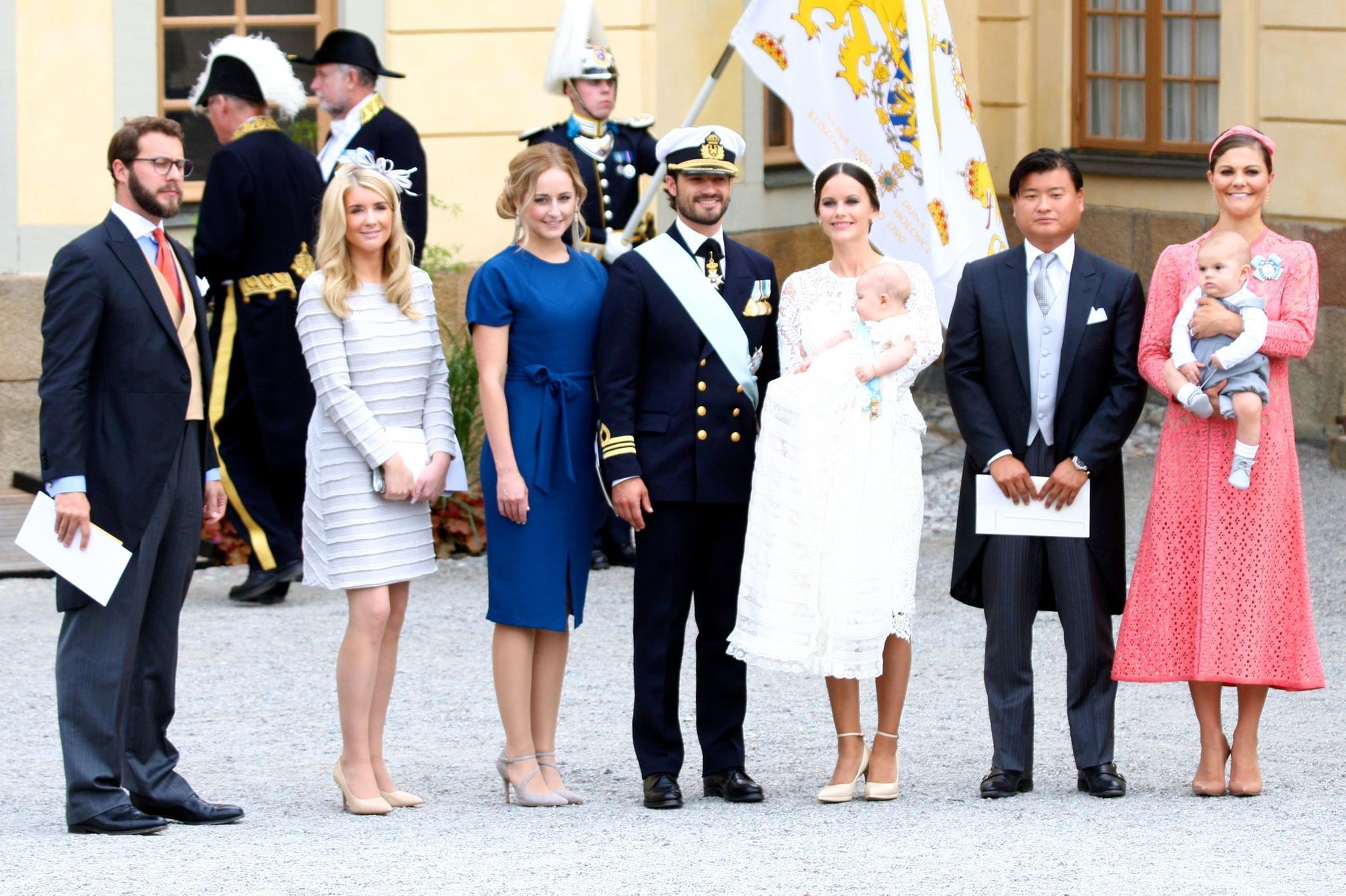 Lina ist die Taufpatin von Prinzessin Sofias großem Sohn Prinz Alexander