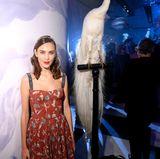 Für die Party begibt sich auch Alexa Chung in das Rodin Museum, das surrealistisch geschmückt wurde.