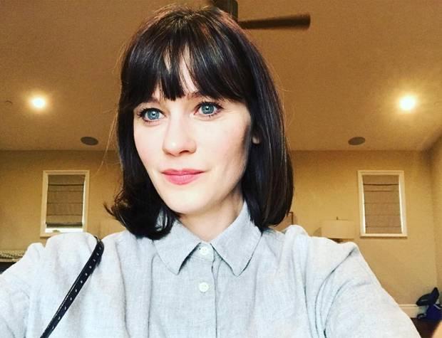 """Schluss mit wilder Lockenmähne! Schon vor Wochen wollte Zooey Deschanel dieses Bild posten, nach dem Ende von """"New Girl"""" macht sie es auch endlich und bedankt sich bei Hair-Stylistin Mara Roszak für ihren frischen, jugendlichen Bob-Schnitt."""