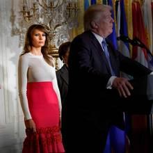 Melania Trump steht (noch) zu ihrem Ehemann Donald Trump