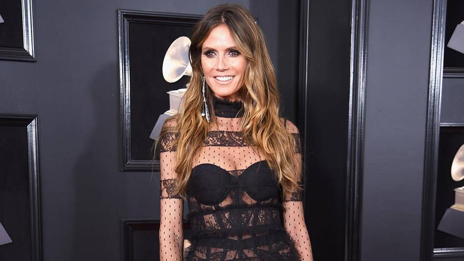 Heidi Klum bei der 60. Grammy-Verleihung in New York
