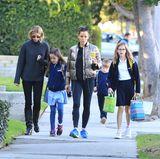 24. Januar 2018  Eine fast normale Mutter: Schauspielerin Jennifer Garner holt ihre Kinder Seraphina, Samuel und Violet von der Schule ab.