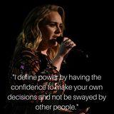 Sängerin Adele motiviert mit ihrer positiven Lebenshaltung.