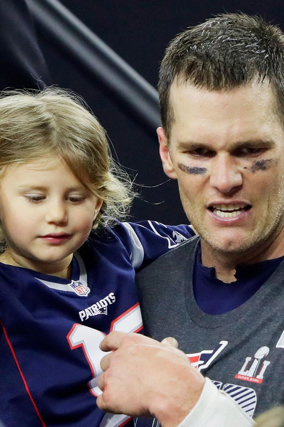 Tom Brady mit Töchterchen Vivian Lake Brady