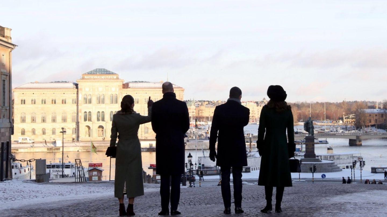 Schweden - Tag 1  Prinzessin Victoria und Prinz Daniel zeigen William und Catherine ihre schöne Stadt Stockholm.
