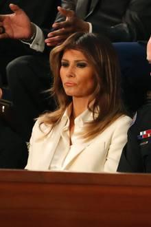 Melania Trumps Blick bei der Rede zur Nation ihres Mannes spricht Bände